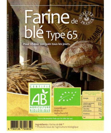 Grami'Bio : Farine de blé T65 25 kg