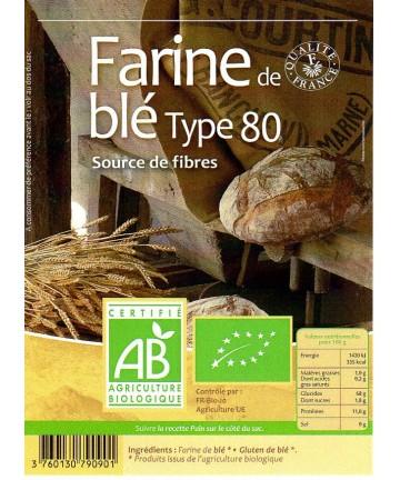 Grami'Bio : Farine de blé T80 2kg